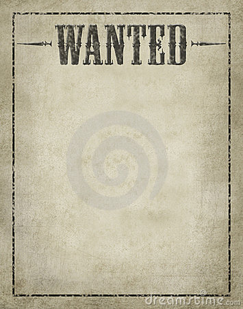 Wanted Poster Royalty Free Stock Image Image 12812276