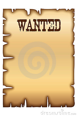 Free Wanted Poster Stock Image - 13550091