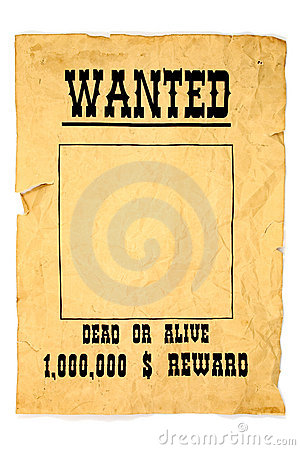 Free Wanted Poster Royalty Free Stock Photos - 610988