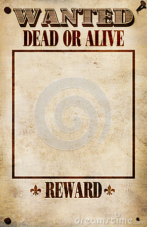 Wanted Poster - Blank Reward