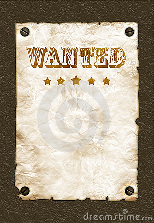 Free Wanted Poster On Wall Royalty Free Stock Images - 9158629