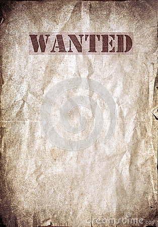 Free Wanted Vintage Poster, Dead Or Alive Stock Photos - 35179213