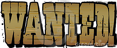 Wanted Wooden Lettering