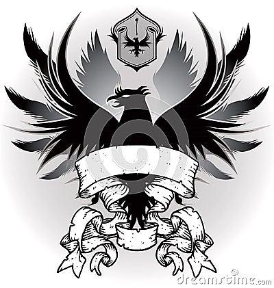 Wapenschild met adelaar