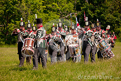 War of 1812 re-enactment band Editorial Stock Image