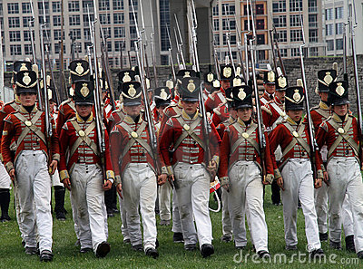 War of 1812 Reenactment Editorial Stock Photo