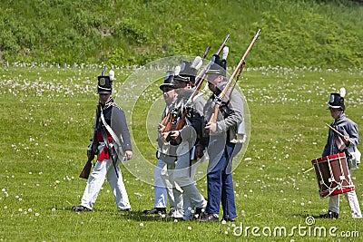 War of 1812 Reenactment Editorial Stock Image