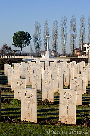 War cemetery at Cassino Editorial Stock Image