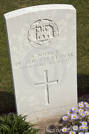 Free War Cemetery - The Somme - France Stock Image - 26749871