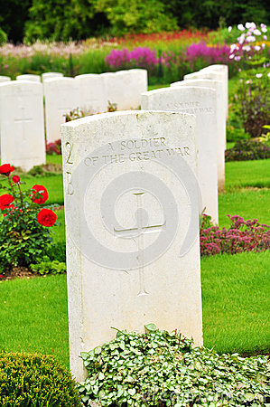 Free War Cemetery - The Somme - France Royalty Free Stock Photography - 29315127