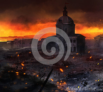 Free War Field Art. Royalty Free Stock Photos - 48875508