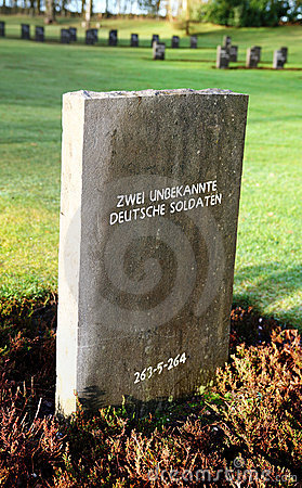War grave unknown German soldiers