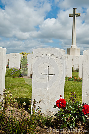 War grave of an unknown soldier