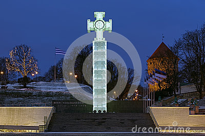 War of Independence Victory Column in Tallinn, Estonia Editorial Stock Image