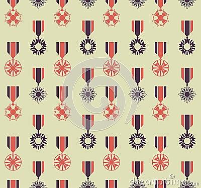 War medals pattern