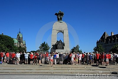 War Memorial Canada Day Morning Editorial Photography