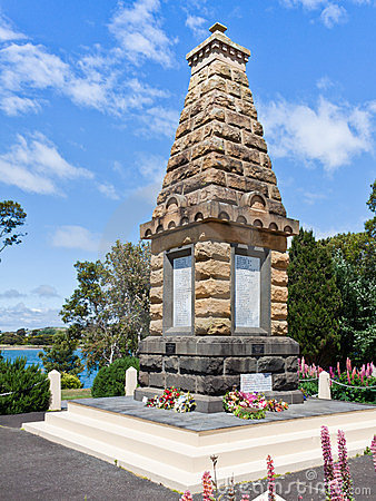 War Memorial, Devenport, Tasmania Editorial Photo