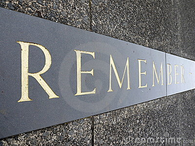 War Memorial inscription: remember