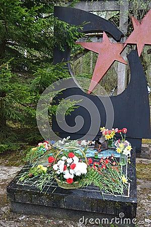 War memorial in Leningrad Oblast