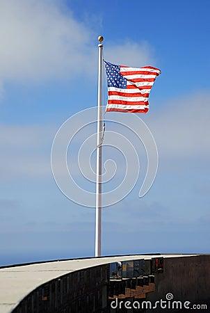 War memorial US flag