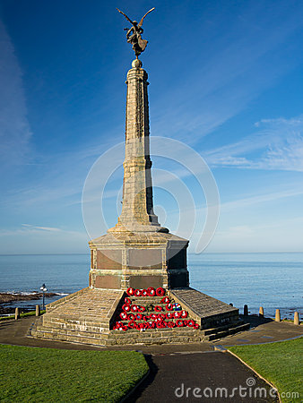 Free War Memorial With Sea View, Wales Royalty Free Stock Photography - 28957537