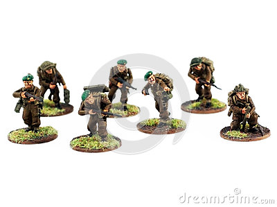 War miniatures , painted,second world war, WWII