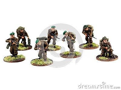 War miniatures , painted,second world war, WWII