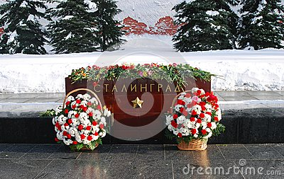 War monument in Aleksandrovsky garden, Moscow, Russia Editorial Stock Image