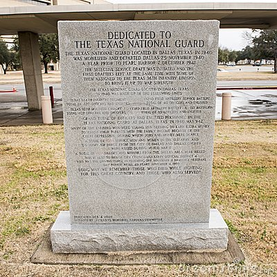 Free War Monument Dedicated To The Texas National Guard In The Veterans Memorial Garden. Royalty Free Stock Images - 108257349