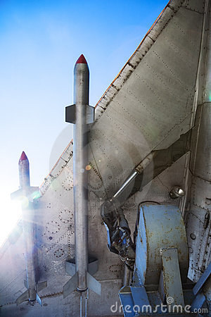 Free War-plane Wing With Missiles Royalty Free Stock Photos - 6469878