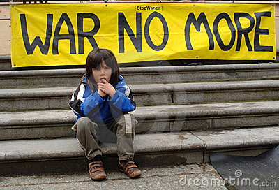 War protest Editorial Photography