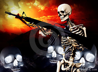 War Skeleton War Background 2