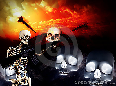 War Skeleton War Background 5