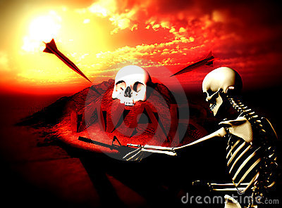 War Skeleton War Background 9