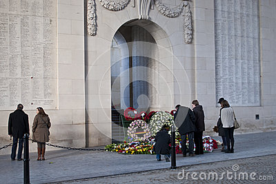 War tourism at the Menin Gate Editorial Stock Photo