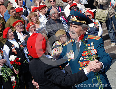 War veterans dance and sing songs Editorial Photo