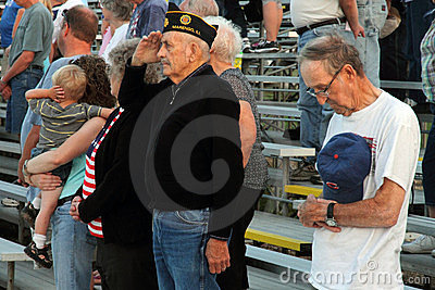 War Veterans salute Editorial Photography