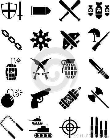 War and weapon icons