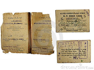 War world 2 POW documents