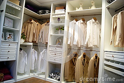 Wardrobe sample exhibition, in shenzhen, China Editorial Stock Photo