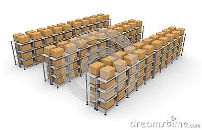 Warehouse Cardboard Luggage