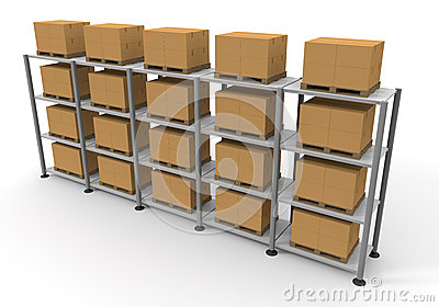 Warehouse Cardboard Luggage