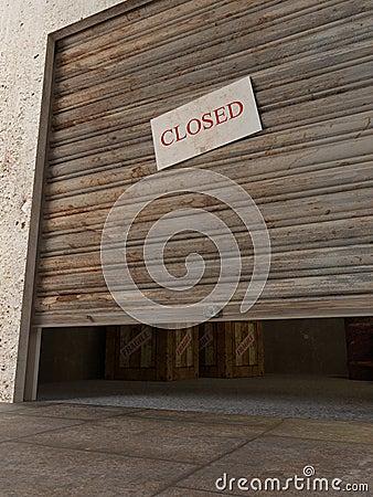 Warehouse 3d stock illustration image 44600613 for Door 3d warehouse