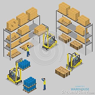 Free Warehouse Loading Isometric Vector Illustration. Stock Photos - 55234073