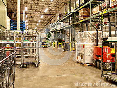 Warehouse receiving area