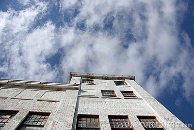 Warehouse and sky