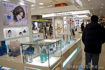 Warenhuis in China Redactionele Stock Foto