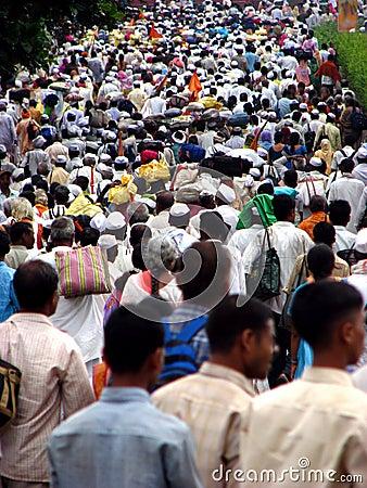 Warkari Crowds Editorial Stock Photo