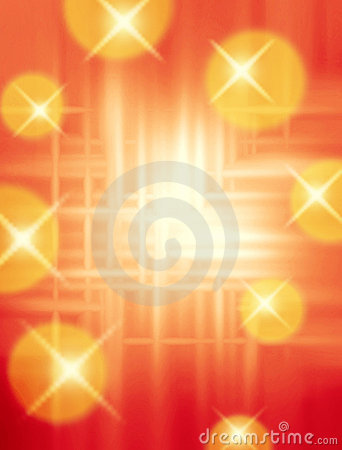 Warm Abstract Twinkling Background