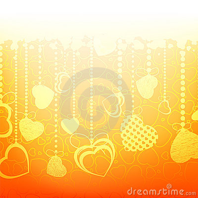 Warm abstract valentine card template. EPS 8